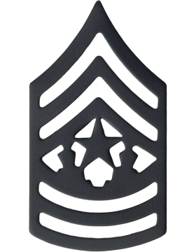 Black Metal Rank BM-111 Command Sergeant Major (E-9)
