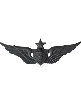 Black Metal Badge Senior Flight Surgeon