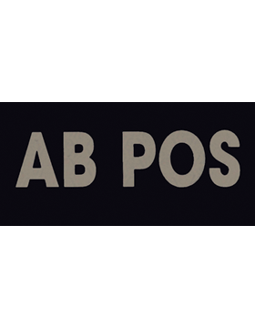 IR Blood Type AB Positive Tan (IR-4025-ABP)