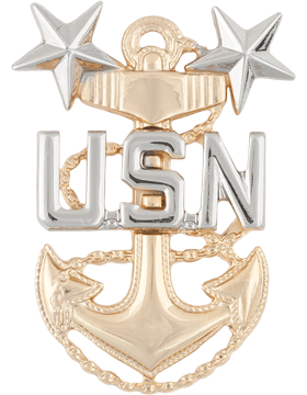 NY-517 Master Chief Petty Officer Cap Device No Shine Miniature