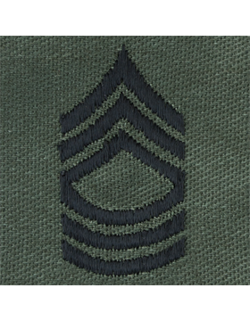 Subdued Sew-on Rank S-108 Master Sergeant (E-8)