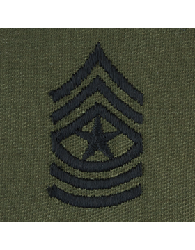 Subdued Sew-on Rank S-110 Sergeant Major (E-9)