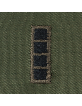 Subdued Sew-on Rank S-115 Warrant Officer Four