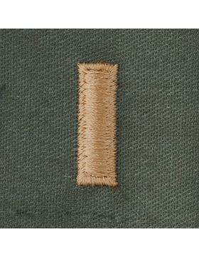 Subdued Sew-on Rank S-116 Second Lieutenant