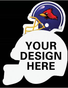 A011 Custom Sublimation Felt Football Helmet Emblem