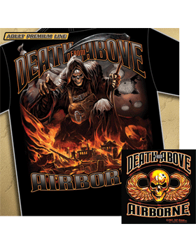T-Shirt Black with Airborne Death From Above T339