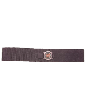Extra Wide Covered Watchband Black 002L