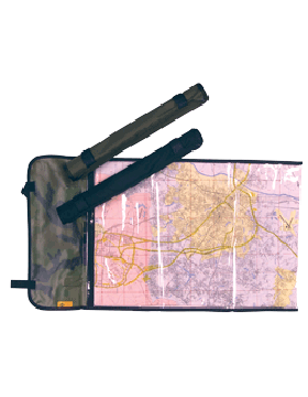 Rolled Map Case Green 029R