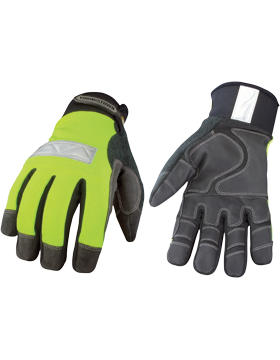 Saftey Lime Waterproof Winter Gloves 08-3710-10