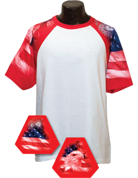 Cotton Theme Jersey White with Patriotic Theme Sleeves 100-04