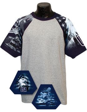Cotton Theme Jersey Ash with Air Force Theme Sleeves 100-27