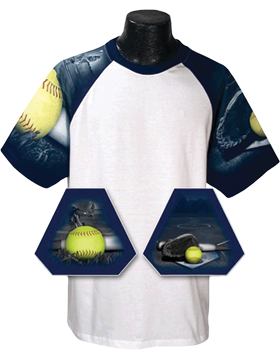 Cotton Theme Jersey White with Softball Sleeves 100-54