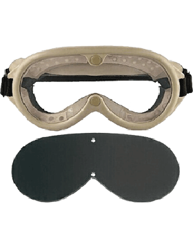 Military Type Sun-Wind-Dust Goggles Tan EYE-RO/10346