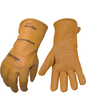 FR Waterproof Leather Lined with  Kevlar Gloves 11-3285-60
