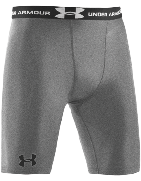 Heat Gear® Under Armour® Gray Compression Shorts 1164-080
