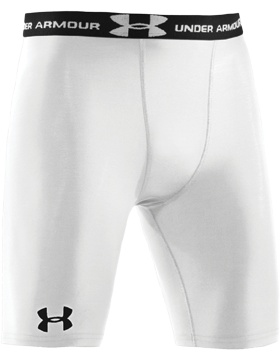 Heat Gear® Under Armour® White Compression Shorts 1201164-100