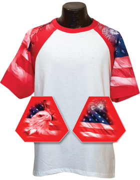 Cotton Theme Youth Jersey White with Patriotic Theme Sleeves 200-04