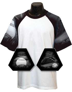 Cotton Theme Youth Jersey White with Baseball Sleeves Black 200-13