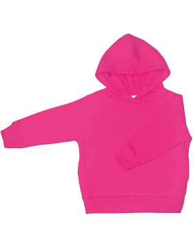 Toddler Fleece Pullover Hood 3326 Raspberry