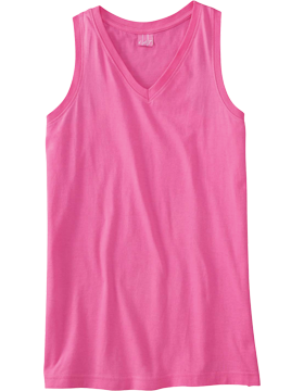 Junior V-Neck Racer Back Tank 3624 Raspberry
