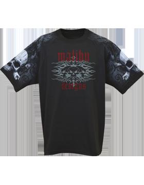 Raglan Theme Jersey Black with Skull & Crossbones 400-47