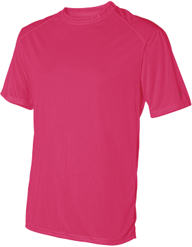 B-Dry Core T-Shirt with Sport Shoulders 4120 Hot Coral