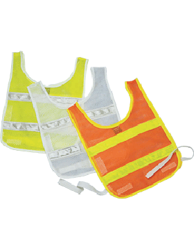 Standard PT Vest Lime Mesh with White Trim 4316