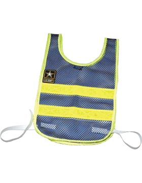 Drill Sergeant Vest Blue Mesh w/Lime Trim w/Star Patch 4326-1