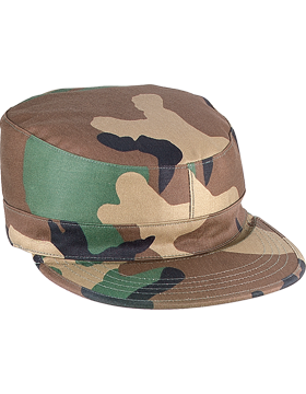 LG WOODLAND FATIGUE CAP POLY/COTTON