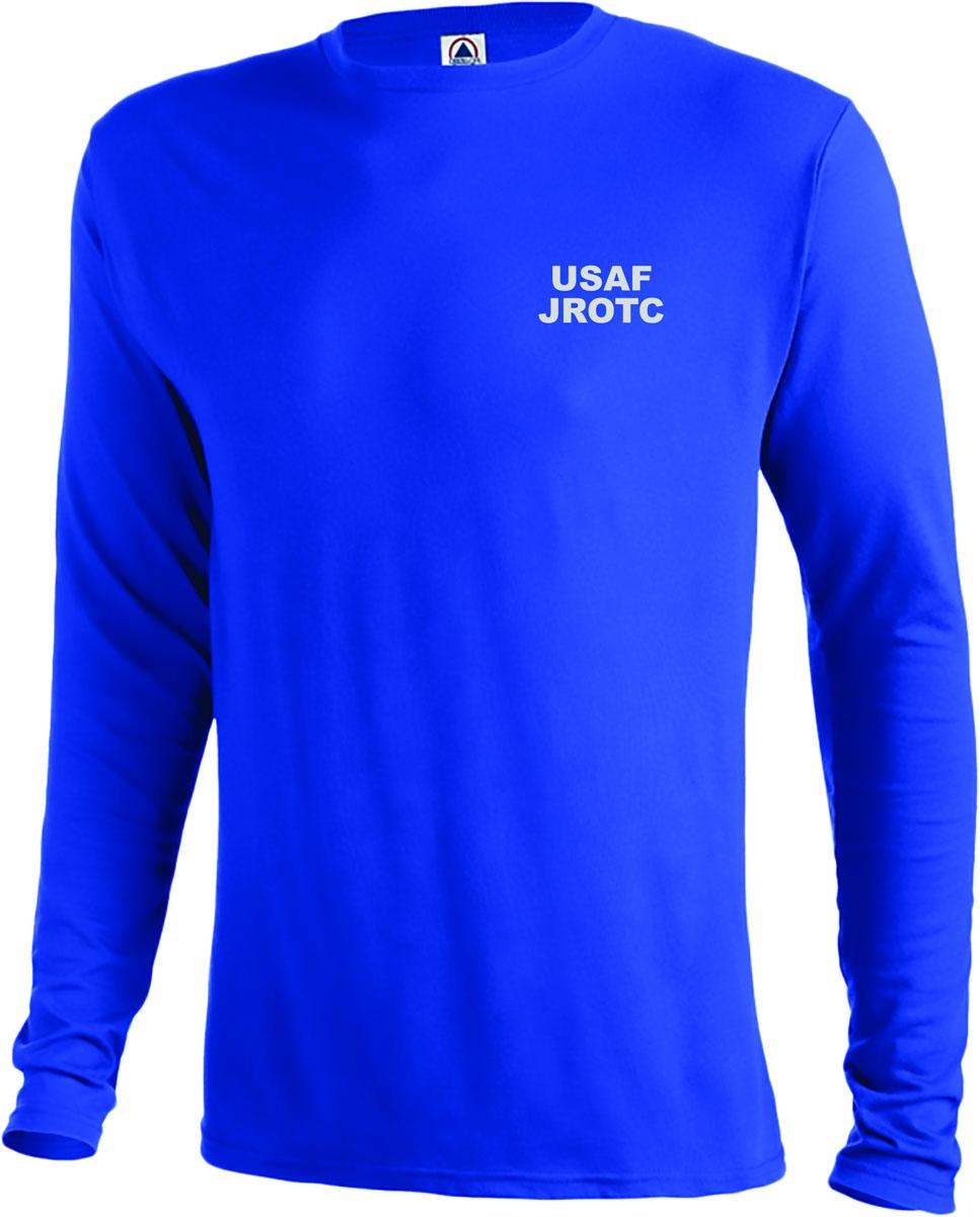 5k 2015 jrotc long sleeve performance t shirt air force for Jrotc t shirt designs