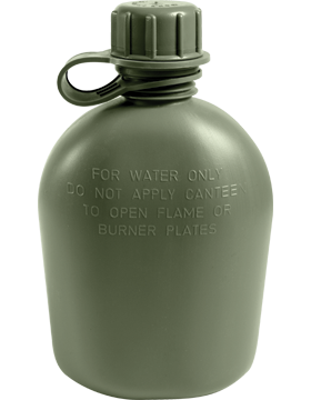 Genuine G.I. 3 Piece 1 Quart Plastic Canteen