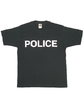 T-Shirt with Police (2 Sided)