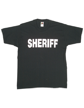 T-Shirt with Sheriff (2 Sided)