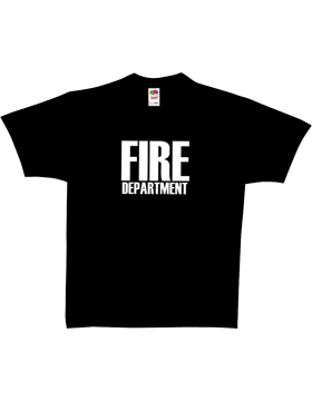 Black T-Shirt with Fire Department (2 Sided) 64-615