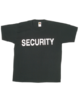 Black T-Shirt with Security (2 Sided) 64-61