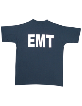 Navy T-Shirt with EMT (2 Sided) 64-621 small