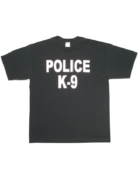 Black T-Shirt with Police K-9 (2 Sided) 64-623