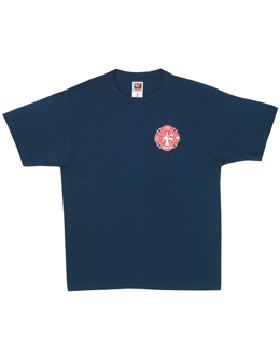 Navy T-Shirt with Fire Rescue (2 Sided) 64-624