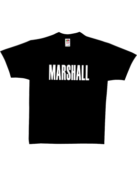 Black T-Shirt with Marshall (2 Sided) 64-6285