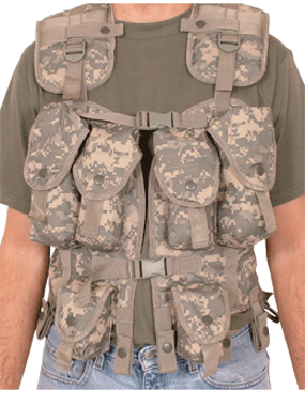 Tactical Load Bearing Vest Mil Spec ACU 65-207
