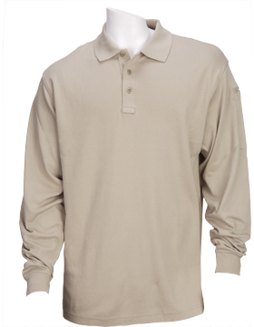Tactical 5.11 L/S Polo Shirt 72048-160-01Silver Tan