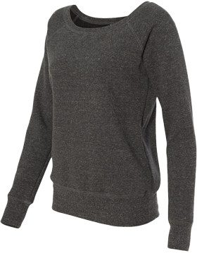 Ladies Sponge Fleece Wide Neck Sweatshirt 7501