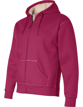 Full-Zip Hooded Thermal with Sherpa Lining 8985 Wildberry/Natural