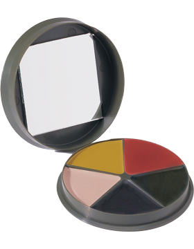 G.I. 3 Color Wooland Camo Face Paint Compact 9205