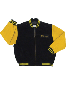 U.S. Army Varsity Jacket with  Logo Suede 9585