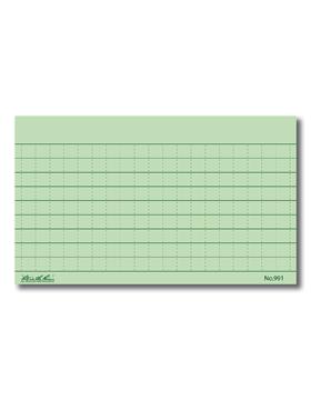 Rite in Raine Green Index Cards PK100