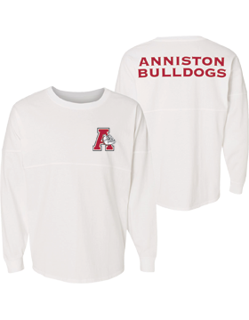 Anniston Bulldogs J. America Game Day Long Sleeve Jersey 8229