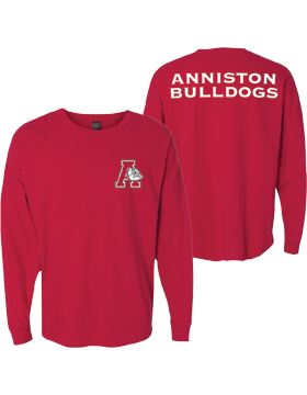 Anniston Bulldogs Red Game Day Long Sleeve Jersey 8229