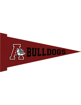 Anniston Bulldogs Felt Pennant