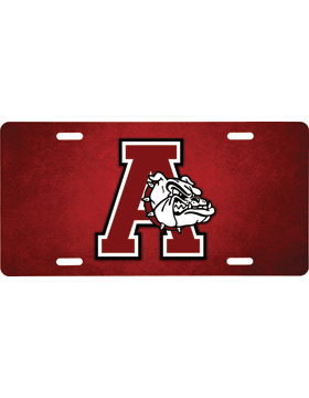 Anniston Bulldogs License Plate